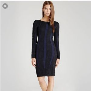 Reiss Neo Lace Bodycon Dress Textured Stretch